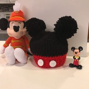 Other - Newborn Mickey Mouse hat with ears